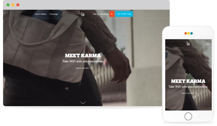 반응형 웹 제작사례 - yourkarma