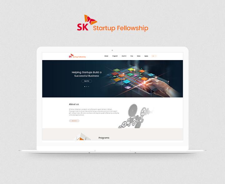 SK 스타트업 반응형 홈페이지